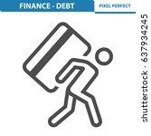 finance   debt icon....   Shutterstock .eps vector #637934245