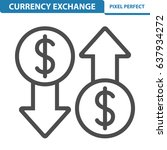 currency exchange icon.... | Shutterstock .eps vector #637934272