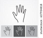 line icon  hand | Shutterstock .eps vector #637934818