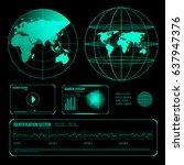 set of glowing screen elements...   Shutterstock .eps vector #637947376