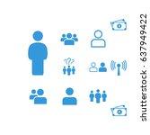 people icon  stock vector... | Shutterstock .eps vector #637949422