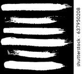 ink vector brush strokes set.... | Shutterstock .eps vector #637950208