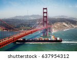 Container Ship Under Golden...