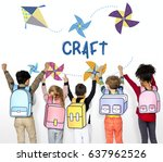 childhood leisure hobby... | Shutterstock . vector #637962526