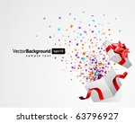 open explore gift with fly... | Shutterstock .eps vector #63796927