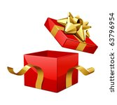 vector open gift box with... | Shutterstock .eps vector #63796954
