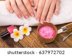 manicure concept | Shutterstock . vector #637972702