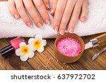 manicure concept | Shutterstock . vector #637972702