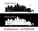 gold coast skyline   australia  ...   Shutterstock .eps vector #637985428