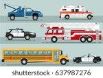 city emergency transport... | Shutterstock .eps vector #637987276