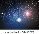 bright white star in space zoom ...   Shutterstock . vector #63799624