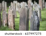 Old Gravestones In A Cemetery