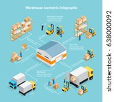 warehouse isometric... | Shutterstock .eps vector #638000092