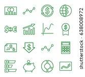 Economy Icons Set. Set Of 16...