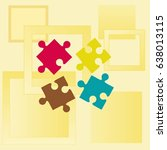puzzle  vector illustration. | Shutterstock .eps vector #638013115