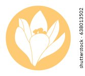spring flower icon. white... | Shutterstock .eps vector #638013502