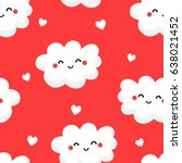 seamless pattern with cute... | Shutterstock .eps vector #638021452