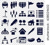 site icons set. set of 25 site... | Shutterstock .eps vector #638024632