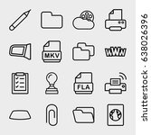 document icon. set of 16... | Shutterstock .eps vector #638026396