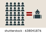 humans vs robots. artificial... | Shutterstock .eps vector #638041876