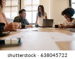group of multiracial business... | Shutterstock . vector #638045722