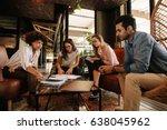 group of multi ethnic team... | Shutterstock . vector #638045962