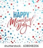 happy memorial day card.... | Shutterstock .eps vector #638048206