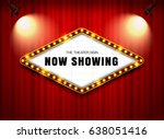 theater sign on curtain with... | Shutterstock .eps vector #638051416