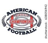 vector logo american football... | Shutterstock .eps vector #638056942