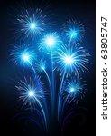 fireworks   Shutterstock .eps vector #63805747