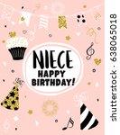 greeting card happy birthday... | Shutterstock .eps vector #638065018