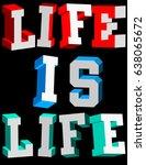 pop colors slogan t shirt design | Shutterstock .eps vector #638065672
