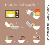 graphic info step by step of... | Shutterstock .eps vector #638072542