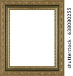 picture frame isolated on white ... | Shutterstock . vector #638080255