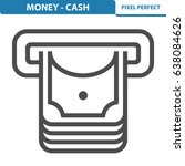 money   cash icon. professional ... | Shutterstock .eps vector #638084626