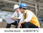 engineer group and worker... | Shutterstock . vector #638087872