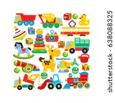 a set of children's toys... | Shutterstock .eps vector #638088325