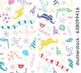 seamless pattern of colorful... | Shutterstock .eps vector #638099416