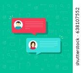 chat bubble icon illustration ...