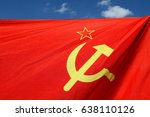 the old soviet flag | Shutterstock . vector #638110126
