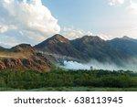 Small photo of Bartogai dam on a mountain river Chilik, Kazakhstan upcast of water