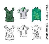 blouse illustration. packing... | Shutterstock .eps vector #638117956