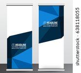 roll up business brochure flyer ... | Shutterstock .eps vector #638118055