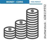 money   coins icon.... | Shutterstock .eps vector #638119552