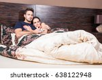 beautiful young couple being... | Shutterstock . vector #638122948
