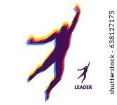 leadership concept. personal... | Shutterstock .eps vector #638127175