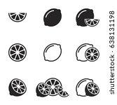 lemon  lime icons set  vector | Shutterstock .eps vector #638131198