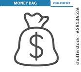 money bag icon. professional ... | Shutterstock .eps vector #638136526