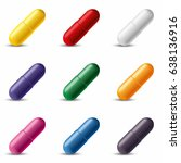 colorful capsules. vector... | Shutterstock .eps vector #638136916