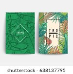 floral covers design. tropic... | Shutterstock .eps vector #638137795